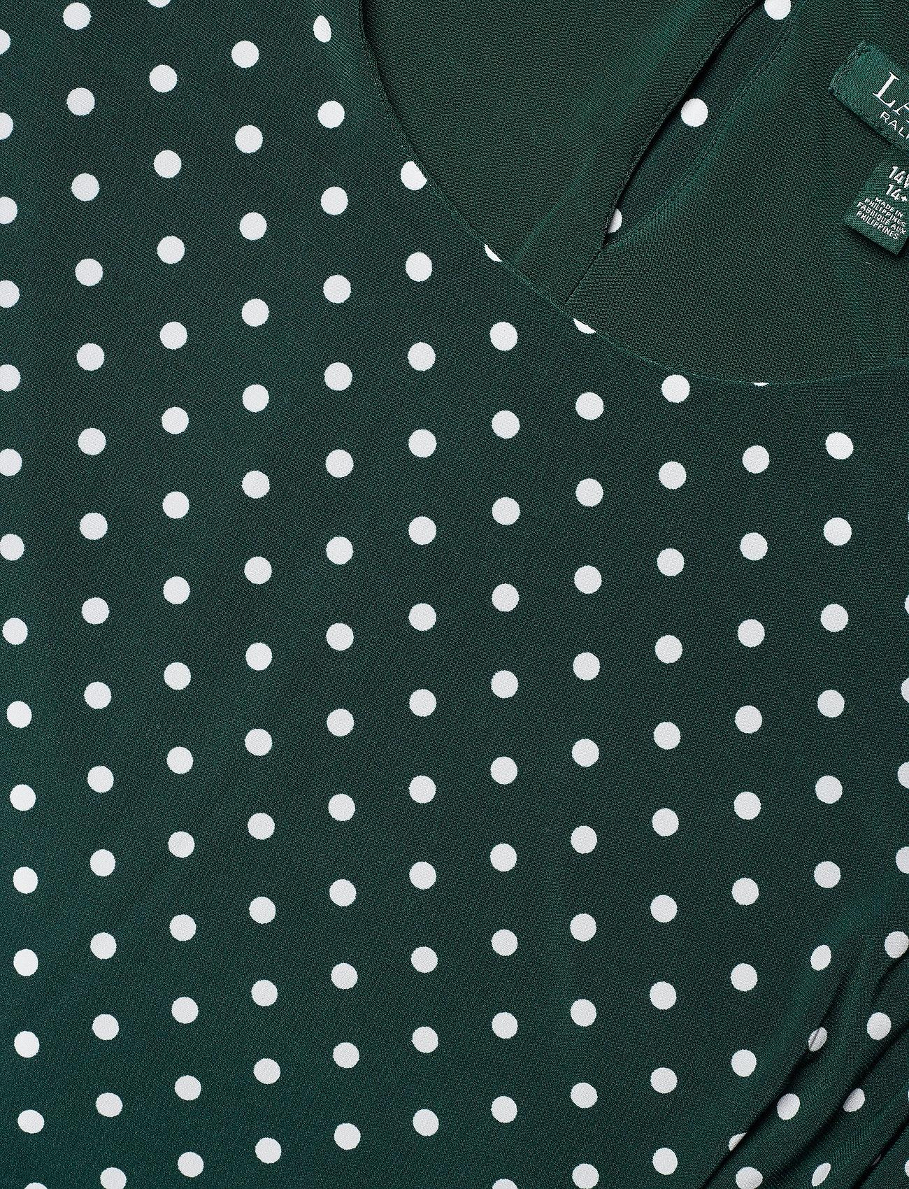 Felia W/ Slv-3/4 Sleeve-day Dress (Dark Fern/col Cre) (1049.40 kr) - Lauren Women