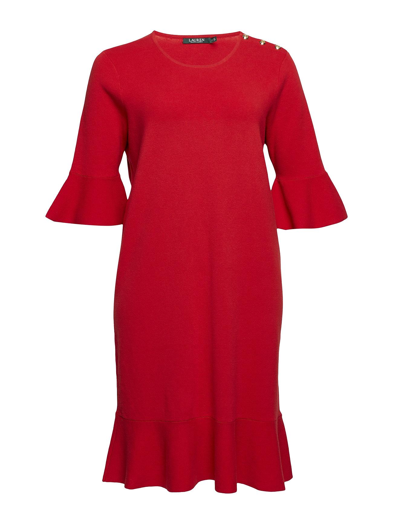 Lauren kvinnor Ruffled Cotton Blend Dress Klänningar