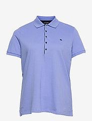 Lauren Women - Stretch Piqué Polo Shirt - polohemden - cabana blue - 0