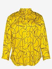 Lauren Women - Print Cotton-Sateen Shirt - langærmede skjorter - dandelion fields - 0
