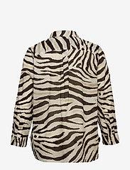 Lauren Women - Print Cotton Shirt - langærmede skjorter - dk brown multi - 1