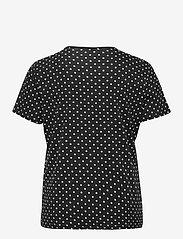 Lauren Women - Polka-Dot Cotton-Blend Tee - t-shirts - polo black/white - 1