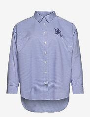 Lauren Women - Striped Cotton Broadcloth Shirt - langærmede skjorter - blue/white multi - 0