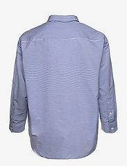 Lauren Women - Striped Cotton Broadcloth Shirt - langærmede skjorter - blue/white multi - 1