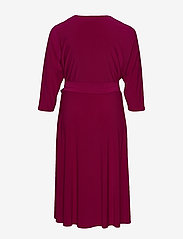Lauren Women - Surplice Jersey Dress - slå-om-kjoler - very berry - 1