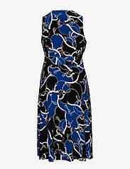 Lauren Women - Print Tie-Waist Midi Dress - cocktailkjoler - black/regal sapph - 1