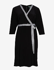 Lauren Women - Matte Jersey Wrap-Style Dress - slå-om-kjoler - black - 0