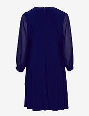 Lauren Women - Surplice Georgette Dress - slå-om-kjoler - cannes blue - 1