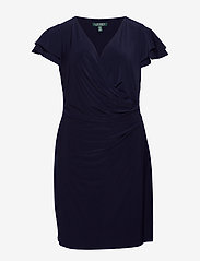 Lauren Women - Flutter-Sleeve Surplice Dress - cocktailkjoler - lighthouse navy - 0