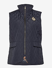 Lauren Women - Quilted Crest Vest - vatteret veste - dark navy - 0