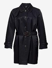Lauren Women - Faux Leather–Trim Trench Coat - trenchcoats - dk navy - 0