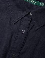 Lauren Women - Linen Short-Sleeve Shirt - kortærmede skjorter - lauren navy - 2