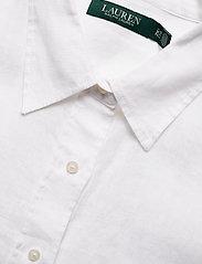 Lauren Women - Linen Shirt - langærmede skjorter - white - 3