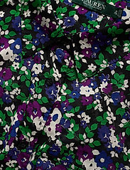Lauren Women - Floral-Print Cotton Shirt - langærmede skjorter - polo black multi - 2