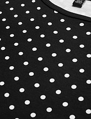 Lauren Women - Polka-Dot Cotton-Blend Tee - t-shirts - polo black/white - 2