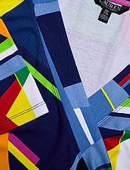 Lauren Women - Print Wrap-Style Jersey Top - langærmede bluser - blue multi - 2