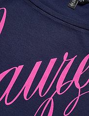 Lauren Women - Logo Boatneck Tee - t-shirts - french navy - 2
