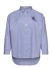 Striped Cotton Broadcloth Shirt - BLUE/WHITE MULTI