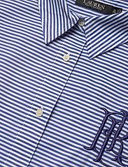 Lauren Women - Striped Cotton Broadcloth Shirt - langærmede skjorter - blue/white multi - 2