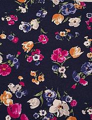 Lauren Women - Floral Cotton-Blend Boatneck Top - kortærmede bluser - french navy multi - 2