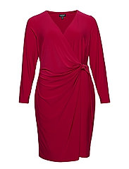 Buckled Jersey Dress - DARK PRIMROSE