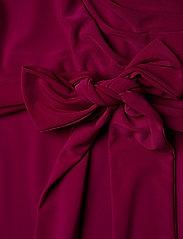 Lauren Women - Surplice Jersey Dress - slå-om-kjoler - very berry - 3