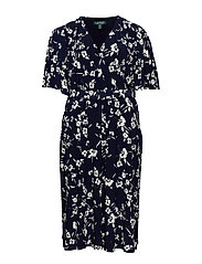 Floral Belted Jersey Dress - LH NAVY/COL CREAM