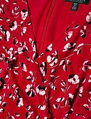Lauren Women - Floral Surplice Dress - slå-om-kjoler - persimmon/charcoa - 2