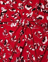 Lauren Women - Floral Surplice Dress - slå-om-kjoler - persimmon/charcoa - 3