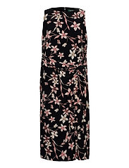 Floral Jersey Sleeveless Dress - BLACK/PINK/MULTI