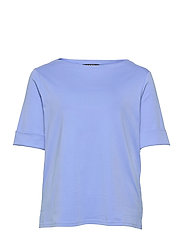 Stretch Cotton Boatneck Tee - CABANA BLUE