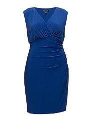 Jersey Cap-Sleeve Dress - DEEP LAPIS