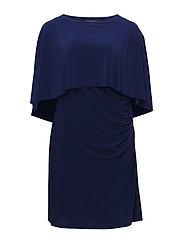 Stretch Jersey Cape Dress - RCH SAPPHIRE