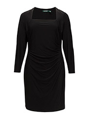 TRYONA - SLEEVELESS DRESS - BLACK