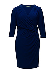 ELECTA - 3/4 SLEEVE DRESS - CANNES BLUE