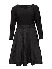 TAMEKA - LONG SLEEVE DRESS - BLACK