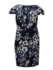 Floral-Print Jersey Dress - LIGHTHOUSE NAVY