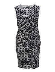 GRAPHIC-PRINT JERSEY DRESS - LIGHTHOUSE NAVY