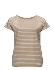COTTON OFF-THE-SHOULDER TEE - PALE WHEAT/HERB