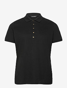 Stretch Piqué Polo Shirt - poloskjorter - polo black
