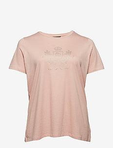 Logo Cotton-Blend Tee - PRIMROSE