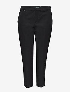 Cotton Twill Skinny Pant - pillihousut - black