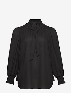 ALEKSEI-LONG SLEEVE-SHIRT - langärmlige blusen - polo black