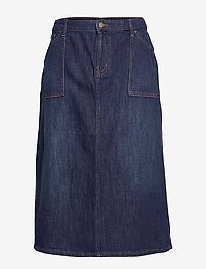 SILDANA-SKIRT - DARK WORN WASH