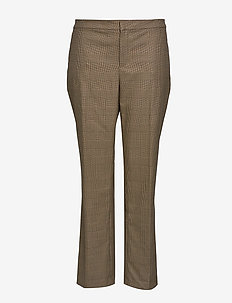 QUARTILLA-STRAIGHT-PANT - suorat housut - brown/tan multi