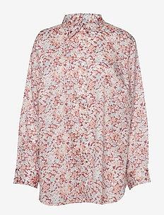 JAMELKO-LONG SLEEVE-SHIRT - langermede skjorter - dark raspberry mu