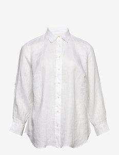Linen Shirt - dugim rękawem - white