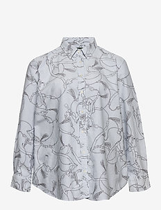 Print Easy Care Shirt - langärmlige hemden - silk white/grey