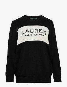 Logo Cotton Sweater - neulepuserot - polo black/marsca