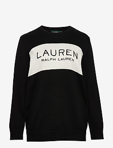 Logo Cotton Sweater - swetry - polo black/marsca